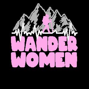 Wander Women Wanderin Wandern Bergsteigen Geschenk