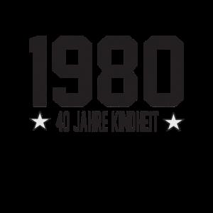Geburtstagsdesign Jahrgang 1980