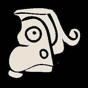 Alte Zeichnung eines Kriegergesichtes - Kultur