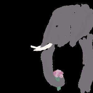 Elefant mit Blumen