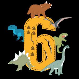 Geburtstag 6 Jahre Dinosaurier Dino 6. Geburtstag