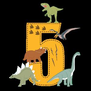Geburtstag 5 Jahre Dinosaurier Dino 5. Geburtstag