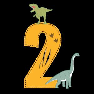 Geburtstag 2 Jahre Dinosaurier Dino 2. Geburtstag