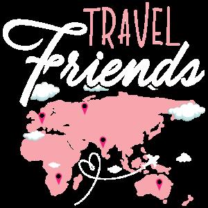 Travel Friends Girl - Frauen Reise Reisen Urlaubsr