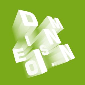 Dimension perspektivisch grün