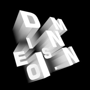 Dimension perspektivisch schwarz-weiß