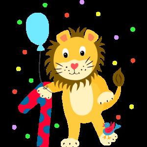 Erster Geburtstag 1. Jahr Löwe süß Geschenk