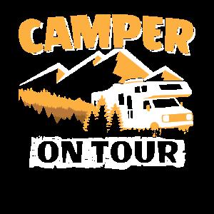 Camping Wohnwagen Campingbus Camper on Tour