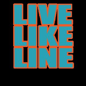 Live Like Line Volleyball Team Verein Mannschaft