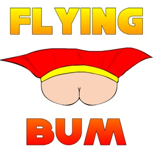 Flying Bum (face on) with text