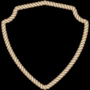 Kordel Rahmen Seil Wappen Vorlage Umrandung Emblem