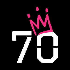 70. Geburtstag 70 Krone Oma Opa Geschenk