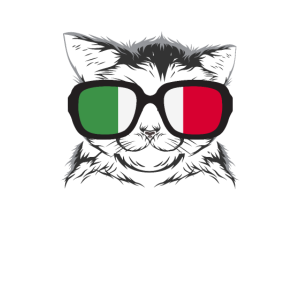 Katze mit Brille - Cat with glasses Italien Italy