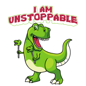 Ich bin unaufhaltsam TRex Funny Short Dinosaur Arms
