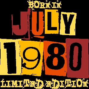 Juli Jahrgang 1980 geboren Geburtstag Geschenk