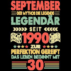 30 Geburtstag September 1990 Geschenk Geschenkidee