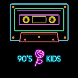 Schönes 90s Retro Neon Kind Design Back to the 90s