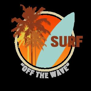 Surf Off The Wave Wellenreiter Palmen Retro