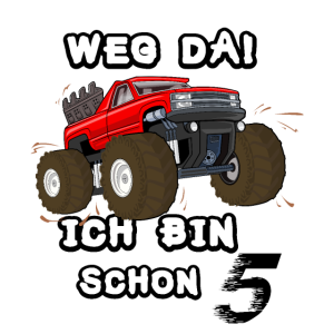 5. Geburtstag Kinder Monster Truck Pickup Geschenk