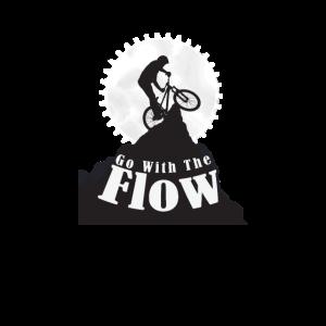 Go With The Flow - Spruch für Fahrradfahrer