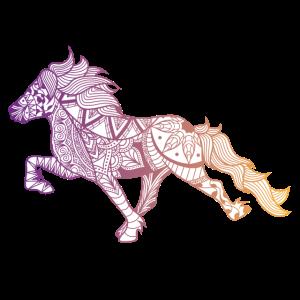 Hippi Tölter - Violett/ Gelb - Islandpferd