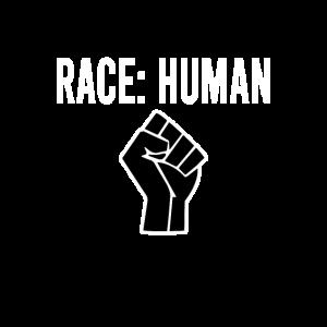RACE HUMAN: Anti Rassismus Tshirt