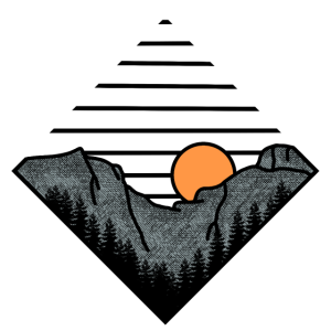 Natur Outdoor Berge Wander Geschenk Illustration