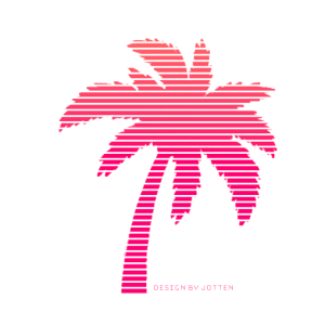 Sommer Synthwave 80s Retro Palm