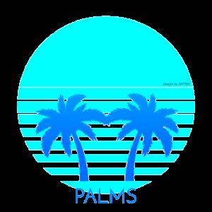 Sommer Synthwave 80s Retro Palmen