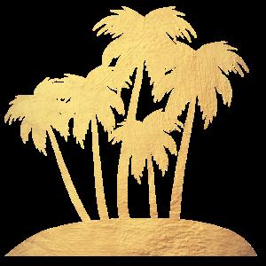 Palmen Gold Strand Luxus Urlaub Insel