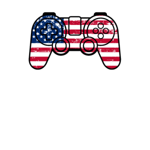 Independence Day American Flag Gamepad Controller