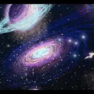 Galaxie, Raummalmaske