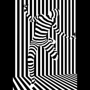 Schwarz-Weiß-Linien Art