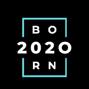 Born 2020 – Geboren 2020 Geburtstag, Typografie,
