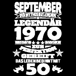 50 Geburtstag September 1970 Geschenk Geschenkidee