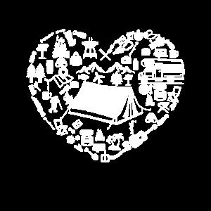 Camping Herz Camper Camperin Womo Zelt Zelten