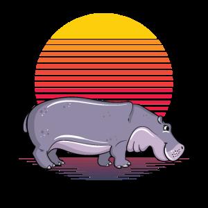 Retro Hippo Sun.