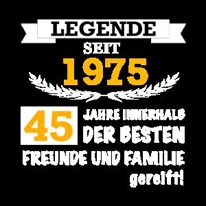 45. Geburtstag Geschenk Mann Frau Papa Mama Freund