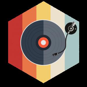 Schallplatte Vinyl Retro Vintage DJ Geschenk Bass