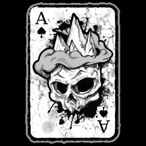 Klettern Spielkarte Bouldern Berg Skull
