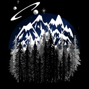Wald Nacht Himmel Sterne Natur Universum Schöpfung