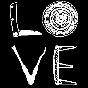 Liebe - Holzschnitzerei und Holzschnitzgeschenk