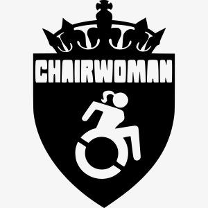 Dame in een rolstoel, vrouw in rolstoel, roller