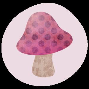 Pilz rosa Kreis Kinder Kinderzimmer Mädchen Punkte