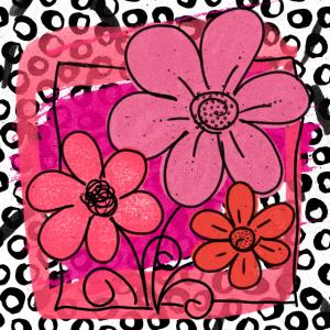 florales Muster Blumen Leoparden Gesichtsmaske