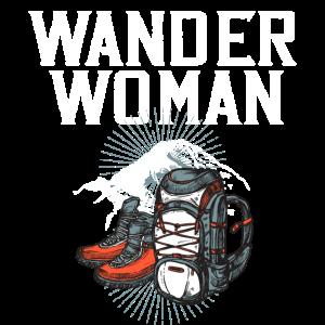 WANDER WOMAN T-Shirt Wandern Trekking Geschenk