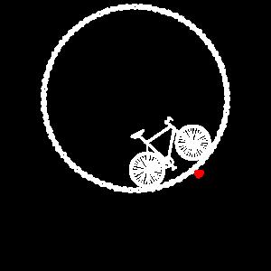 City bike Fahrrad Lovers Liebe Sport Herz Kette