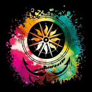 anker kompass seil bunt symbol