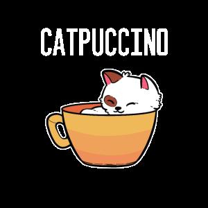 Catpuccino Tier-und Kaffee-Liebhaber Gift