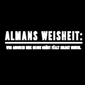 Almans Weisheiten: Grube graben - weiß
